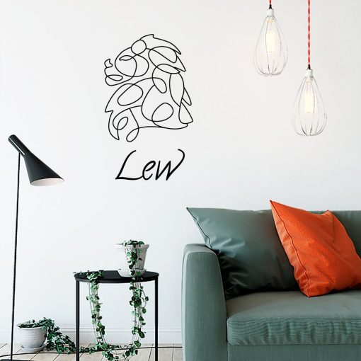 Naklejka na ścianę z zodiakiem lwa