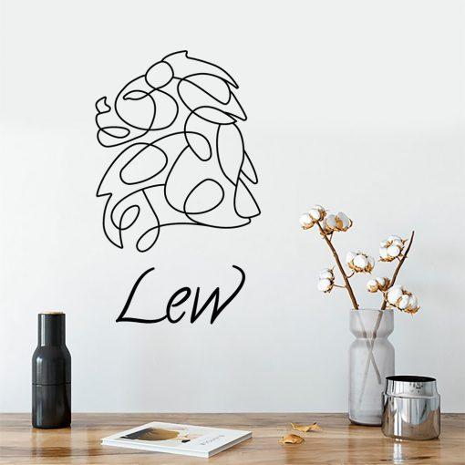 Naklejka ścienna zodiak lwa