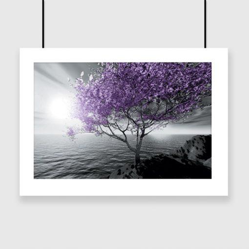 Plakat z drzewkiem