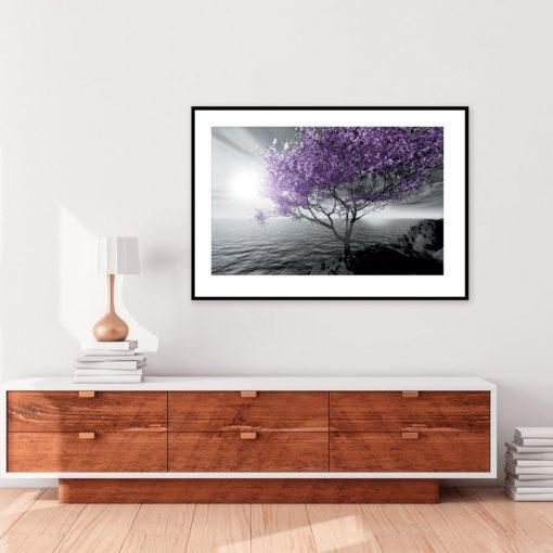 Plakat drzewo i krajobraz
