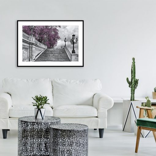 Plakat drzewo fioletowe