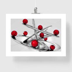 Plakat czerwone kule i abstrakcja