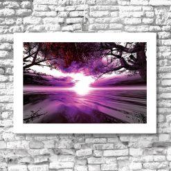 plakat ze wschodem słońca jako dekoracja