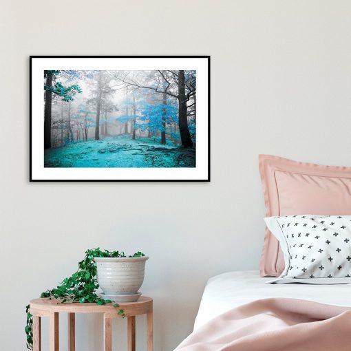 plakat leśny klimat nad łóżko