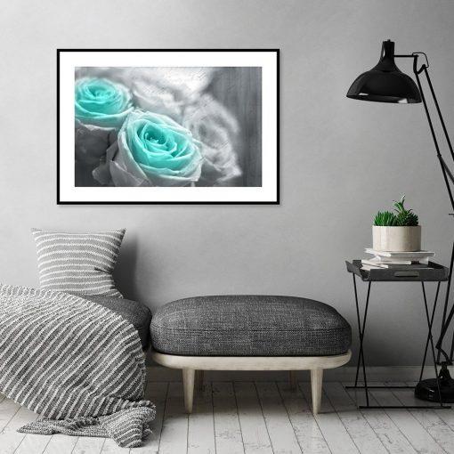 plakat róże do salonu