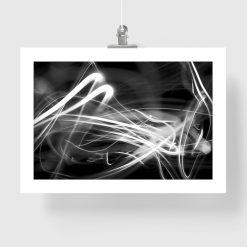 plakat czarno-biała abstrakcja na ścianę