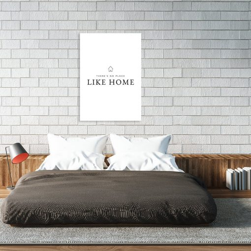 plakat z motywem napisu do sypialni