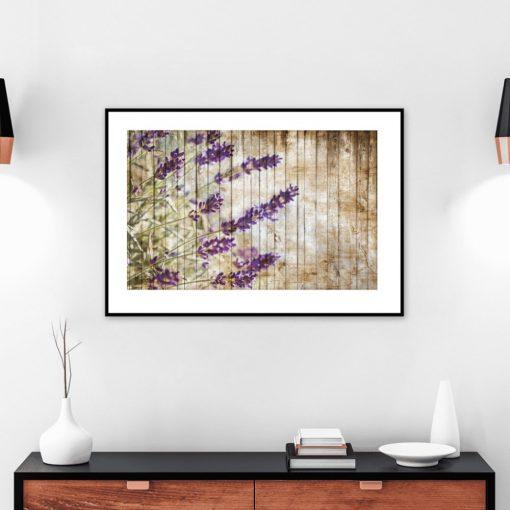 plakat lawendowe kwiaty na ścianę