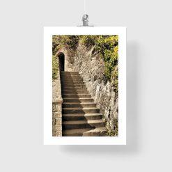 plakat ze schodami na ścianę