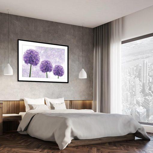plakat z kwiatami do sypialni