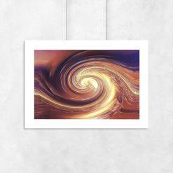 plakat z brązową abstrakcją