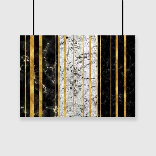 plakat abstrakcyjny wzór na ścianę