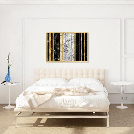 plakat z abstrakcyjnym wzorem do sypialni