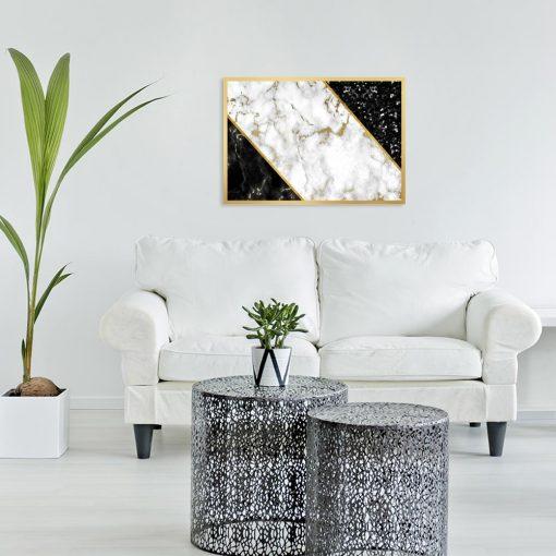 plakat z abstrakcją marmurkową do salonu