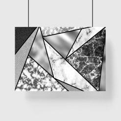 plakat marmurkowe trójkąty na ścianę