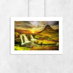 plakat z krajobrazem na ścianę
