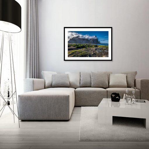 plakat z widokiem na krajobraz