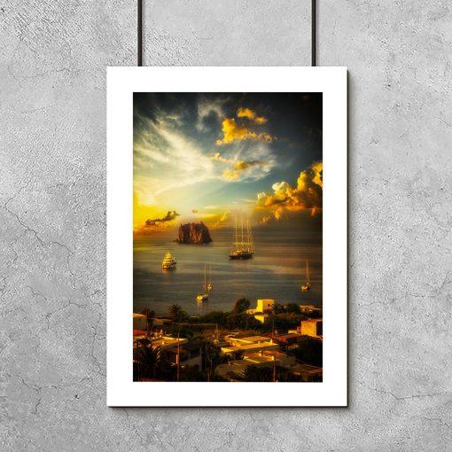 plakat z krajobrazem Włoch