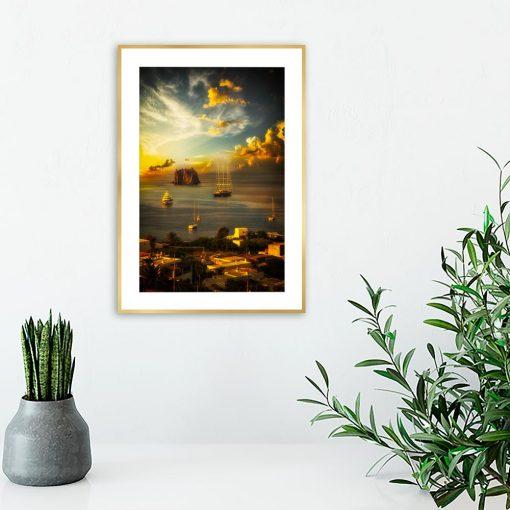 plakat z włoskim krajobrazem