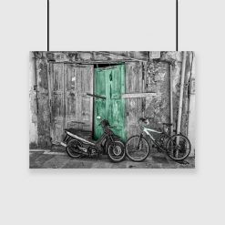 Plakat z motocyklem na ścianę
