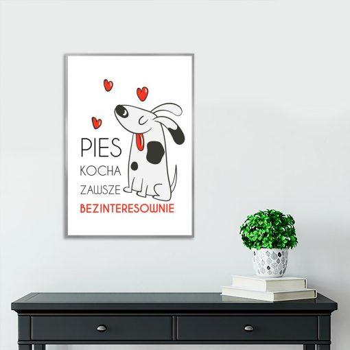 Plakat o tematyce psa