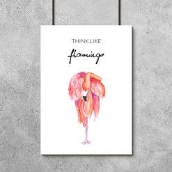 Plakat z flamingiem