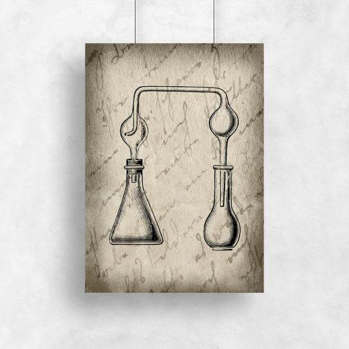 Plakat vintage z motywem chemii