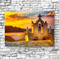 Obraz z motywem Santorini