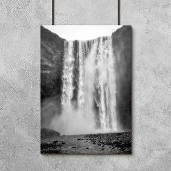 Plakat z wodospadem