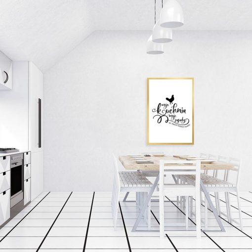 Plakat moja kuchnia moje zasady ale zawsze możesz pomóc
