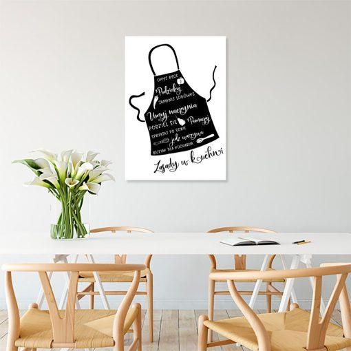 Plakat zasady w kuchni
