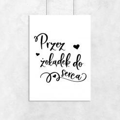 Plakat czarno-biały z napisem