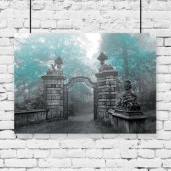 plakat ze starą bramą na ścianę