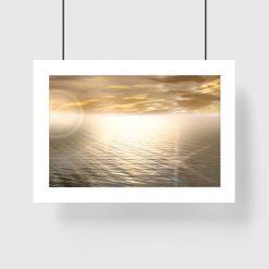 plakat zachód słońca na ścianę