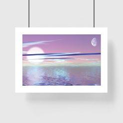 plakat pastelowy widok na morze na ścianę