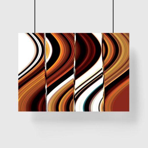 plakat z abstrakcyjnym wzorem na ścianę