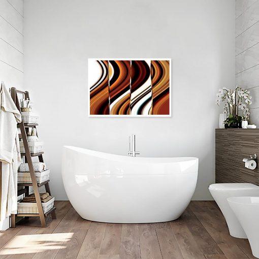 plakat abstrakcja do łazienki