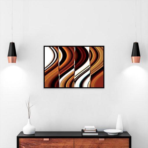 plakat z abstrakcją nad komodę