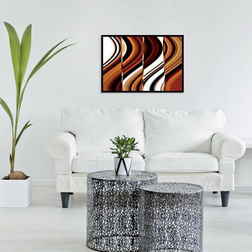 plakat z motywem abstrakcji nad kanapę