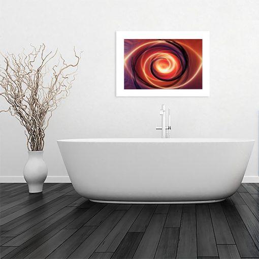 plakat nowoczesny wzór w łazience