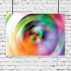 plakat z kolorową abstrakcją na ścianę