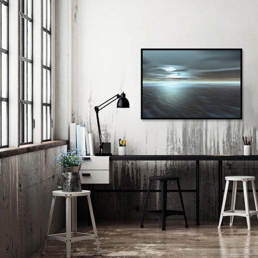 plakat z zachodem słońca na ścianę