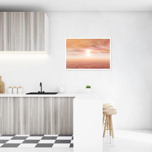 księżyc na plakacie w kuchni