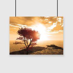 plakat z jesiennym drzewem na ścianę