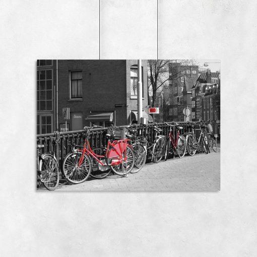 plakat z motywem rowerowym na ścianę