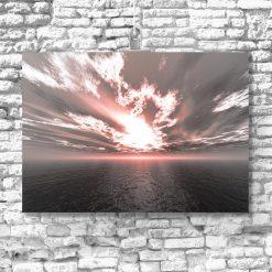 plakat tajemniczy zachód słońca na ścianę