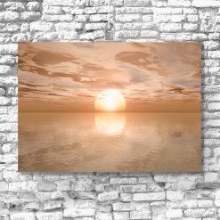 zachód słońca na plakacie