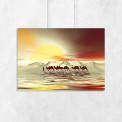 plakat z widokiem na pustynie