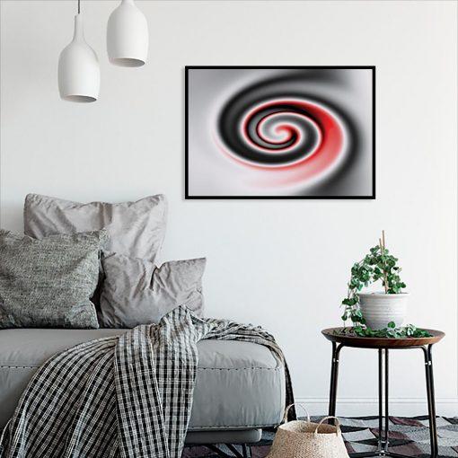 abstrakcyjny wzór na plakacie