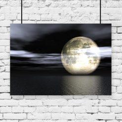 plakat z pełnią księżyca